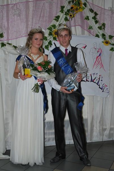 Kráľ a kráľovná plesu: Katarína Vaňová a František Haniš